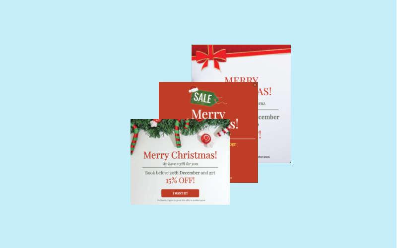 Three Popups in christmas design