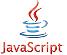 The word JavaScript and the smybol of JavaScript to symbolise JavaScript injection