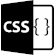 The letters CSS and curly brackets to symbolise CSS-injection